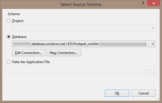 Select source dialog